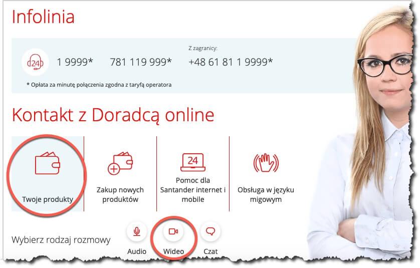Santander - jak zamknąć kartę przezinternet