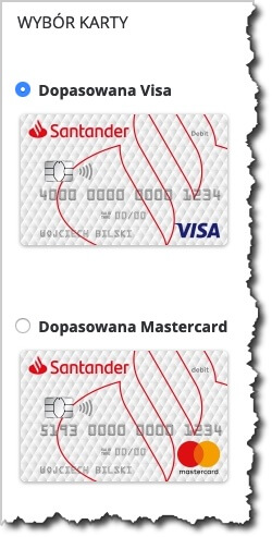 Santander - karta dokonta