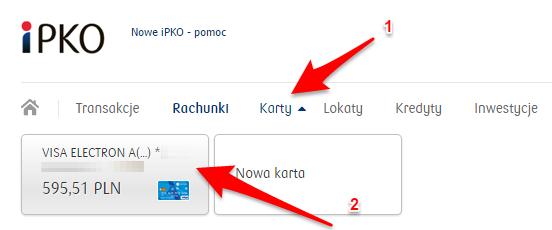 Jak zamknąć konto izastrzec karte PKO - pokaz szczegoly karty2