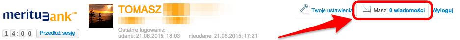 Meritum - zamkniecie konta przezinternet - wyslij wiadomosc