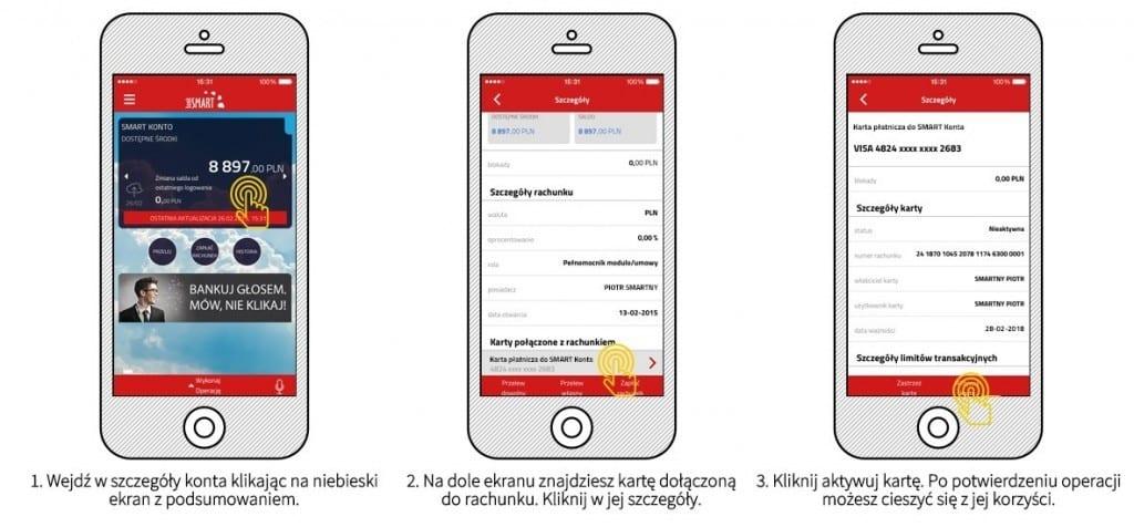 NEST BANK - jak aktywowac kartę - mobile