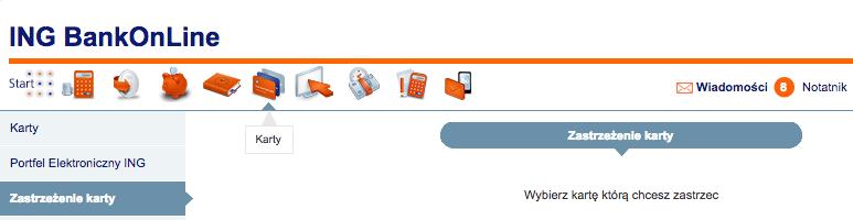Jak zamknąć konto wING - zastrzec kartę dokonta Direct