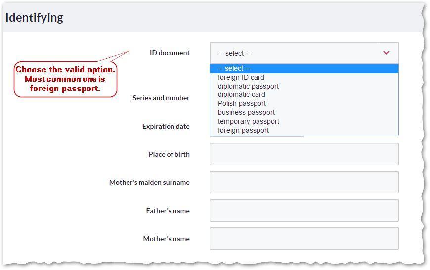 5. Current account application - Identifying - Bank Millennium