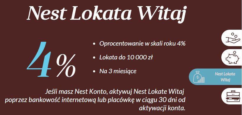 Lokata Nest na4%