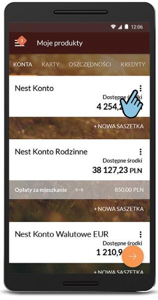 Nest Bank aplikacja Mobilna